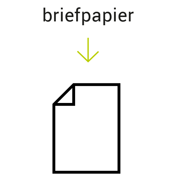 Briefpapier in huisstijl